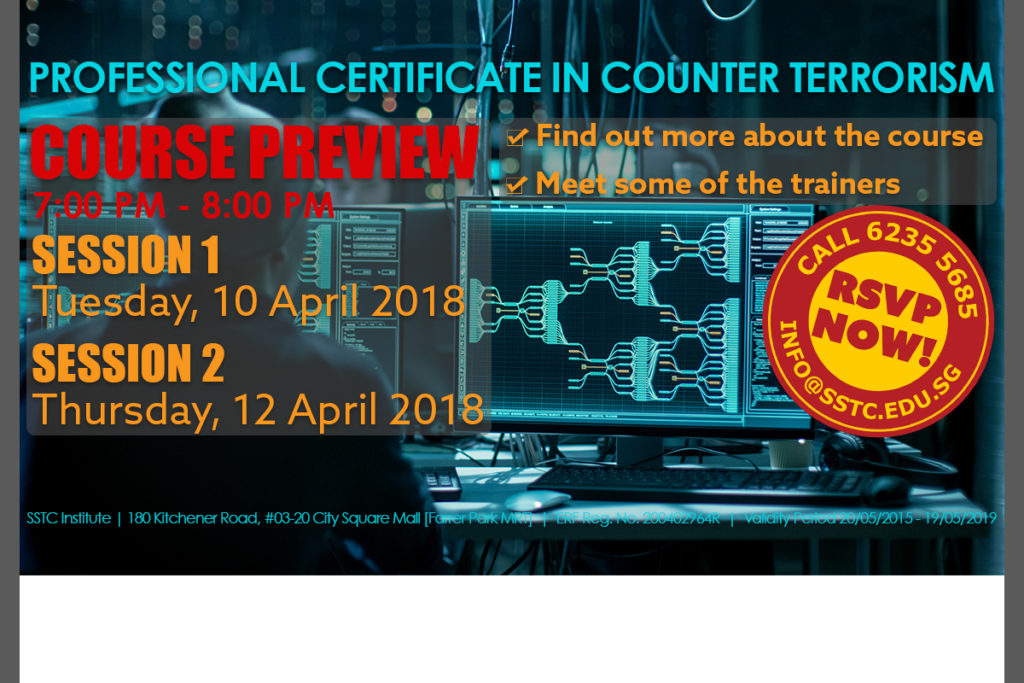 PROFESSIONAL CERTIFICATE IN COUNTER TERRORISM - SkillsFuture Credit eligible